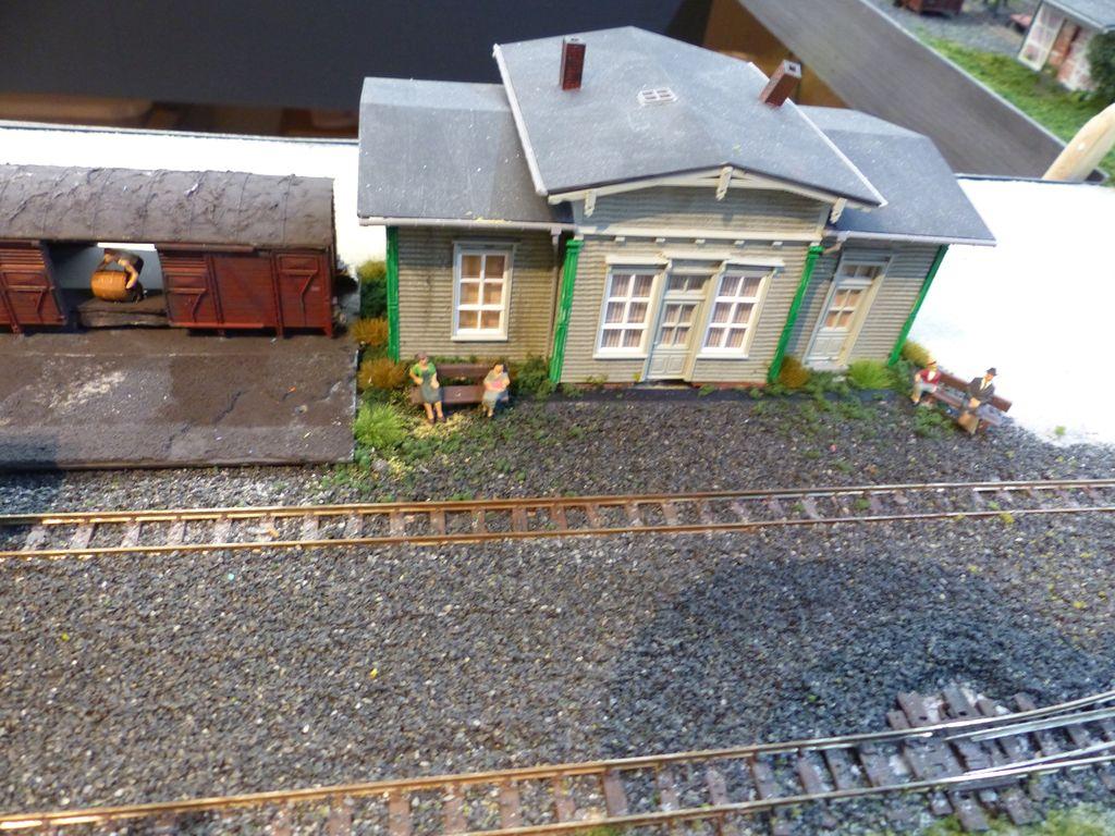 Kleiner Bahnhof für das Dorf