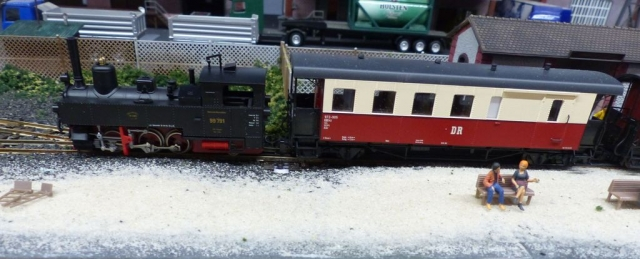 Die neue Lok für die Personenbahn zum Hafen