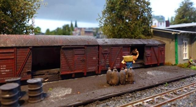 Güterverladung Kleinbahnhof